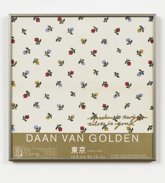 , 'spreken is zwijgen zilver is goud,' 2013, Brutto Gusto