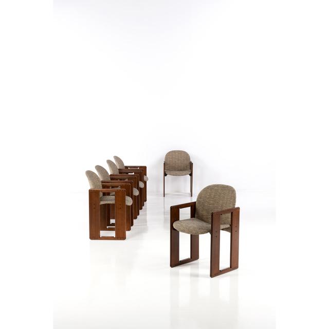Afra & Tobia Scarpa, 'Set of six armchairs', 1974, Design/Decorative Art, Noyer et textile, PIASA