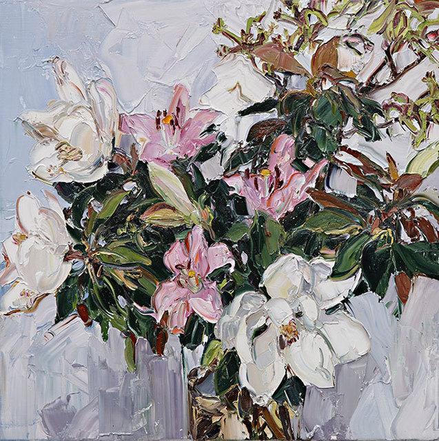 Nicholas Harding, 'Magnolias, lilies and kangaroo paw', 2014,  Olsen Irwin