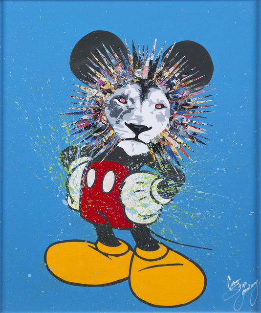 CANTSTOPGOODBOY, 'Crooked Mouse #11', 2015, Acrylic and diamond dust on handmade paper, Julien's Auctions