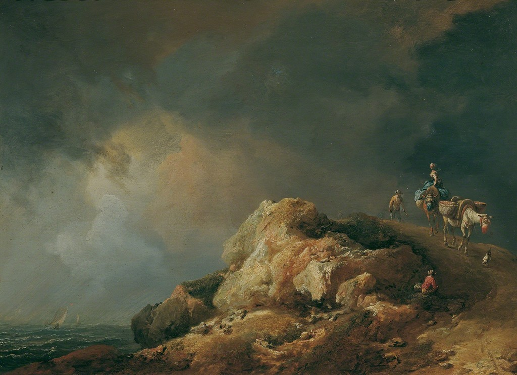 Johann Christian Brand, Coast Landscape with Sumpters, 1771, © Belvedere, Vienna