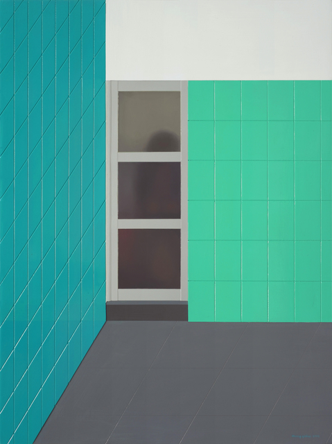 , 'Blue and Green Space,' 2014, Eli Klein Gallery