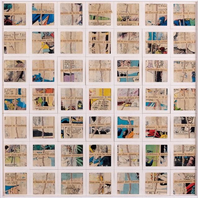""", 'Décomposition """"Négatif reparaît da"""",' 1980, Galerie Natalie Seroussi"""