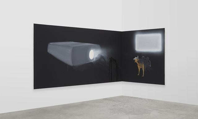 , 'Corner Projection (Alsatian),' 2019, David Kordansky Gallery