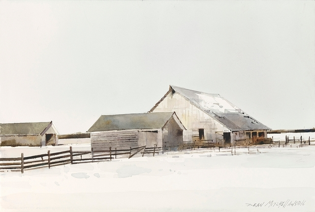 , 'Aging Barns in Winter,' 2016, Cutter & Cutter Fine Art