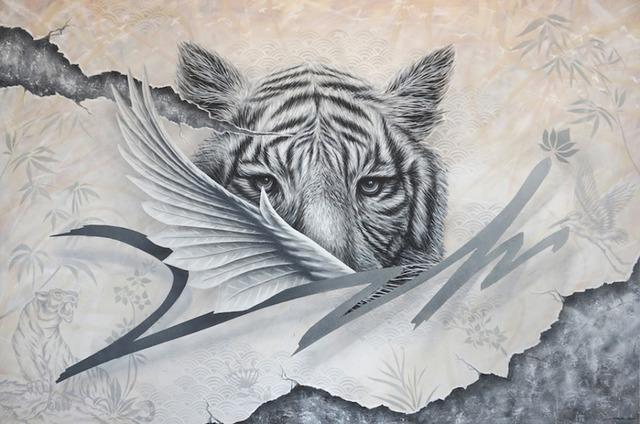 , 'White Tiger,' 2017, Mazel Galerie