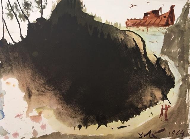 "Salvador Dalí, 'Aquae diluvii super terram - From ""Biblia Sacra""', 1964, Wallector"