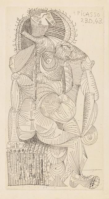 Pablo Picasso, 'Femme Assise (from Contree)', 1943, Hindman