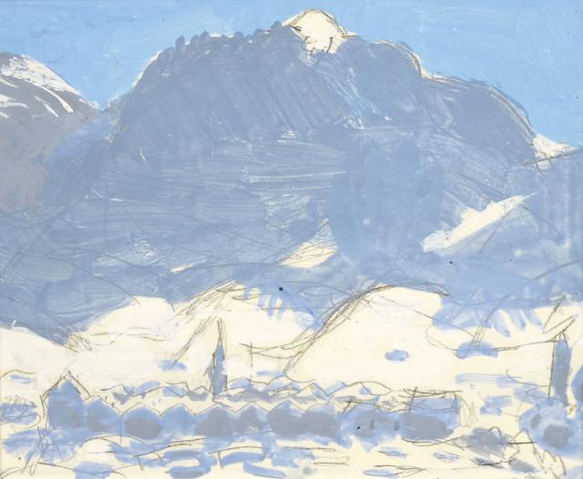 , 'Kitzbühel in winter in the background Hahnenkamm,' ca. 1920, Galerie Kovacek