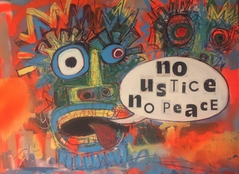 , 'No justice, no peace,' 2018, Art Collection NYC
