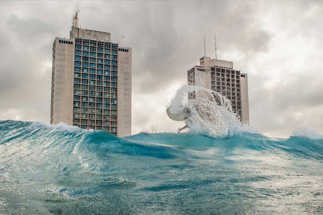 , 'A surfer named Umbert near 70th Street, Havana, Cuba.,' , Anastasia Photo