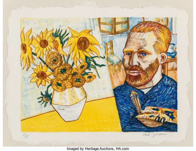 Red Grooms, 'Van Gogh with Sunflowers', 1988, Heritage Auctions