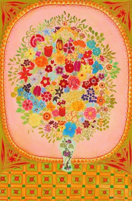 , 'Pink Flowers,' 2012, Rebecca Hossack Art Gallery