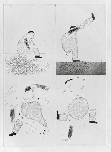 David Hockney, 'He Tore Himself in Two', 1969, Goldmark Gallery