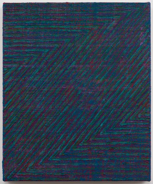, 'Green Zig Zag 14,' 2015, Rhona Hoffman Gallery
