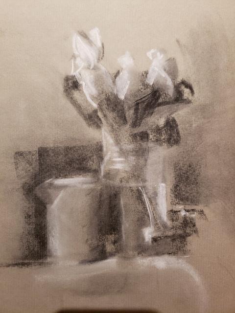 , 'White Rose Buds,' 2018, The Galleries at Salmagundi