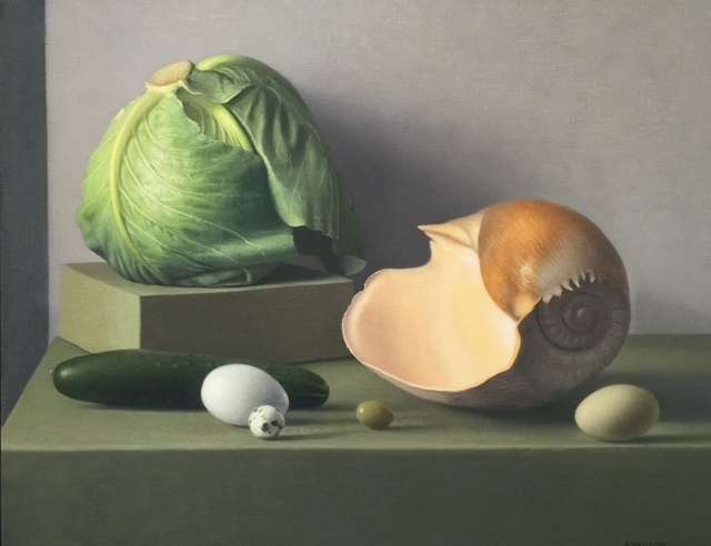, 'Still Life with Cabbage and Shell,' 2014, Clark Gallery