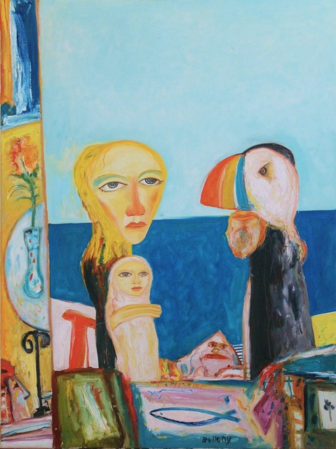 , 'Woman with child and puffin,' , Castlegate House Gallery