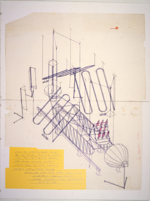 , 'Study for Vibrating Forest,' 1982, Dennis Oppenheim studio