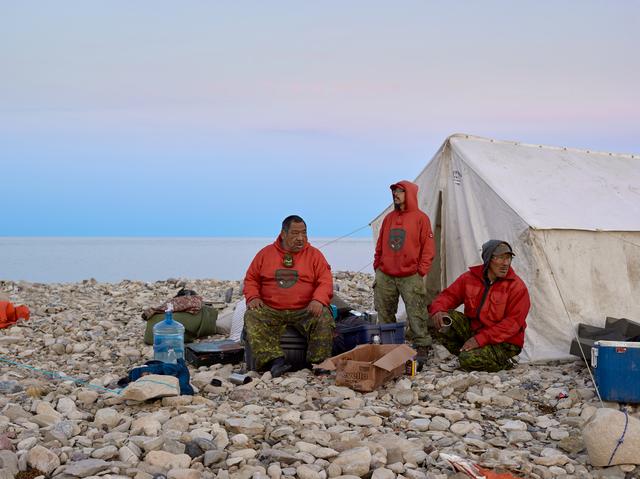 , 'Rangers John and Steven Ukuqtunnuaq and Simon Tucktoo, King William Island,' 2017, Circuit Gallery