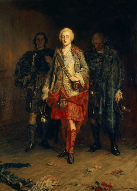 , 'Bonnie Prince Charlie Entering the Ballroom at Holyroodhouse,' ca. 1892, Royal Collection Trust