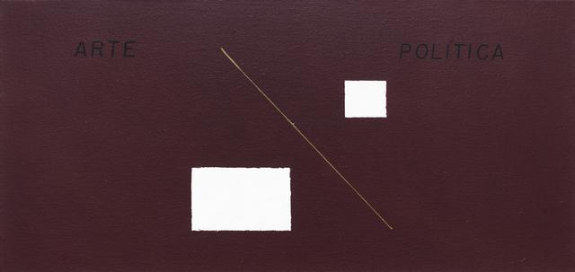 , 'Arte / Política,' 1983-2017, Galeria Karla Osorio