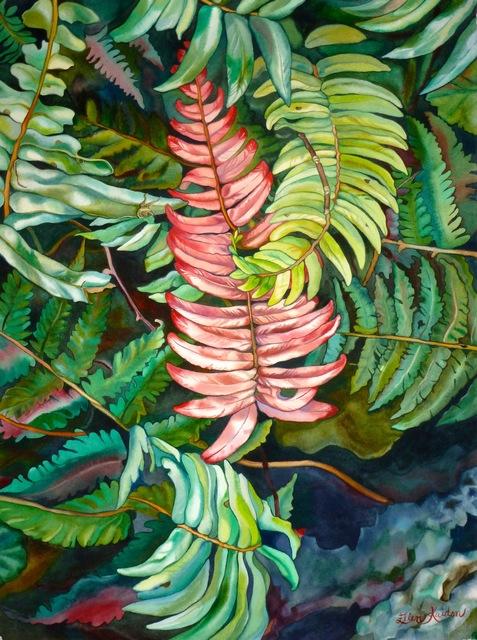 Ellen Kaiden, 'Krazy Kale', 2016, Painting, Watercolor, Bernay Fine Art