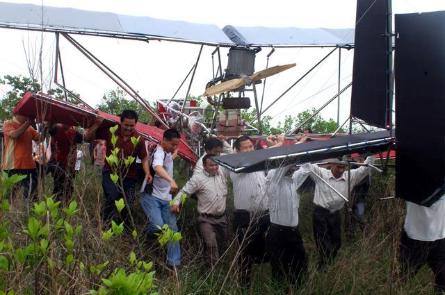 Cai Guo-Qiang, 'Da Vincis do Povo, China Research (Xiong Tianhua's airplane after its first test run),' April 2008, Cai Studio