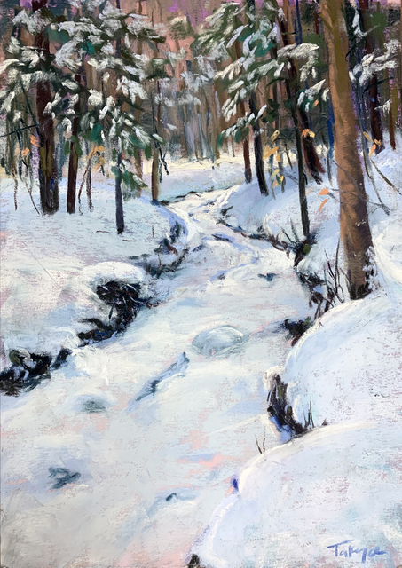 Takeyce Walter, 'Day 7: Snowy Cascade', February 2020, Painting, Pastels, Keene Arts