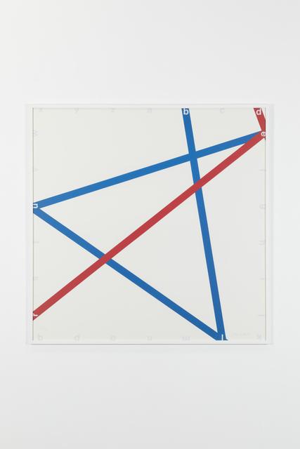 , 'Blue-red, 105/125,' 1982, Galerie Denise René