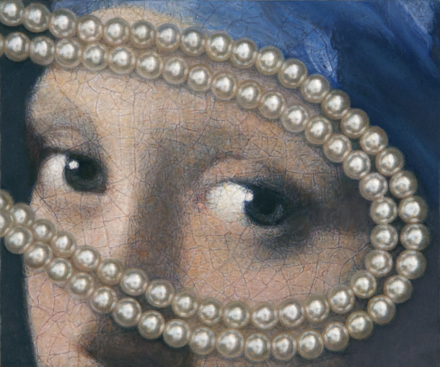 , 'Vermeer Eyes with Pearls,' 2012, Nancy Hoffman Gallery