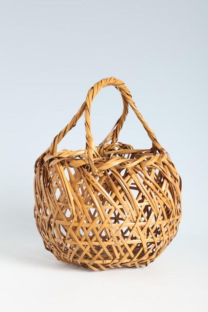 Yamamoto Chikuryosai, 'Whitened Bamboo Handled Flower Basket (T-4277)', 1922-1955, Erik Thomsen