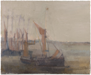 Thames sailing barge, estuary, Essex