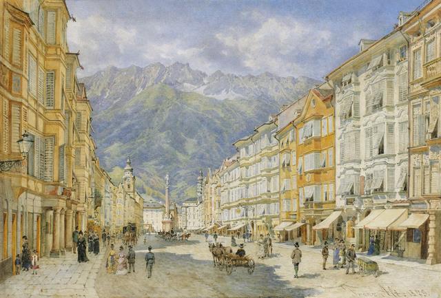 , 'The Maria Theresien street in Innsbruck,' 1873, Galerie Kovacek