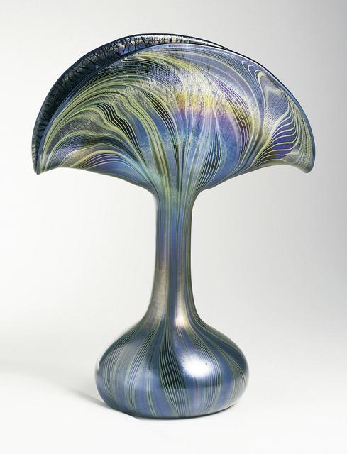 Louis Comfort Tiffany, 'Peacock vase', ca. 1901, Design/Decorative Art, Blown glass, Cooper Hewitt, Smithsonian Design Museum