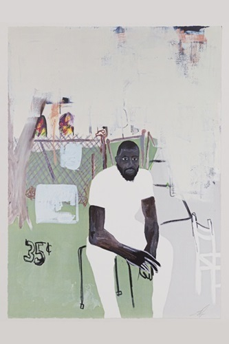 Jammie Holmes, 'A Self Portrait Of An Artist on Narrow Street', 2020, Print, 4 Color Process Serigraph Print on Mohawk Superfine UltraWhite, 160 lb cover, End to End Gallery