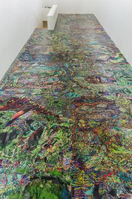 , 'untitled (floor vinyl),' 2013, Kerlin Gallery