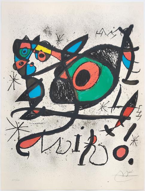 Joan Miró, 'SOBRETEIXIMS I ESCULTURES', 1972, Print, LITHOGRAPH, Gallery Art