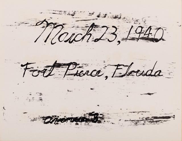 , 'March 23, 1940,' 2013, Emerson Dorsch