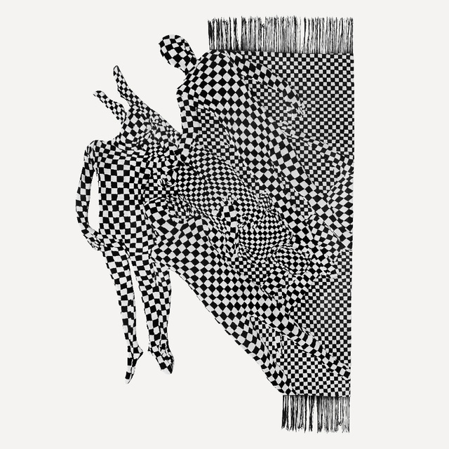 , 'Black and white people pattern,' 2017, FROZEN PALMS GALLERY
