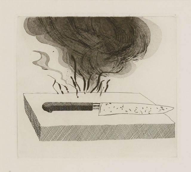 David Hockney, 'The Carpenter's Bench, A Knife and Fire (Tokyo 90)', 1969, Sworders