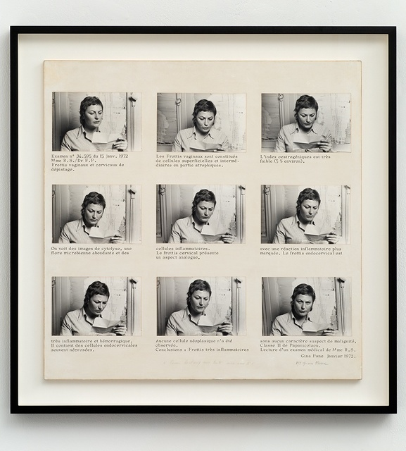 , 'Lecture d'un examen medical de Mme R.S. [Reading of Mrs R.S.'s medical test],' 1972, Richard Saltoun
