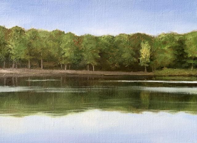 Julianna Wells, 'Lake Delano at Golden Hour', 2020, Painting, Oil on linen, Sugarlift