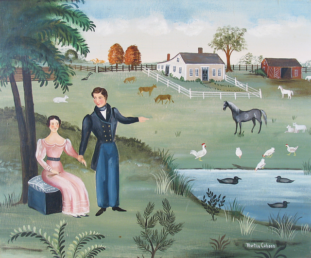 , 'Couple by Farmyard,' , Caldwell Gallery Hudson