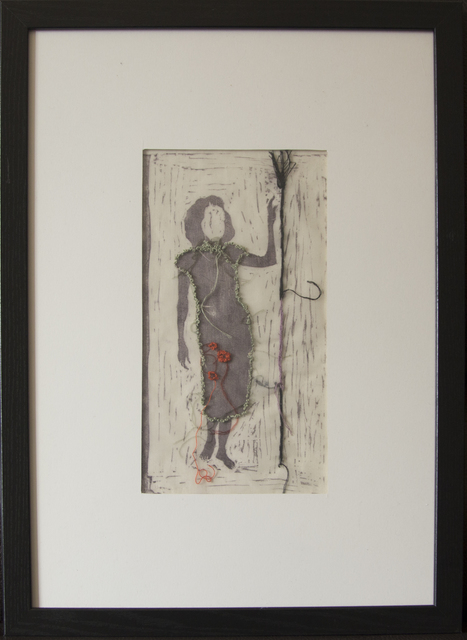 Cynthia Fusillo, 'A warrior at home', 2020, Print, Transfer on silk, guasch, embroidery, Galeria Contrast
