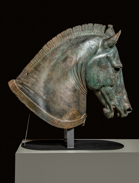 ", 'Horse Head ""The Medici Riccardi Horse"",' ca. 350, J. Paul Getty Museum"