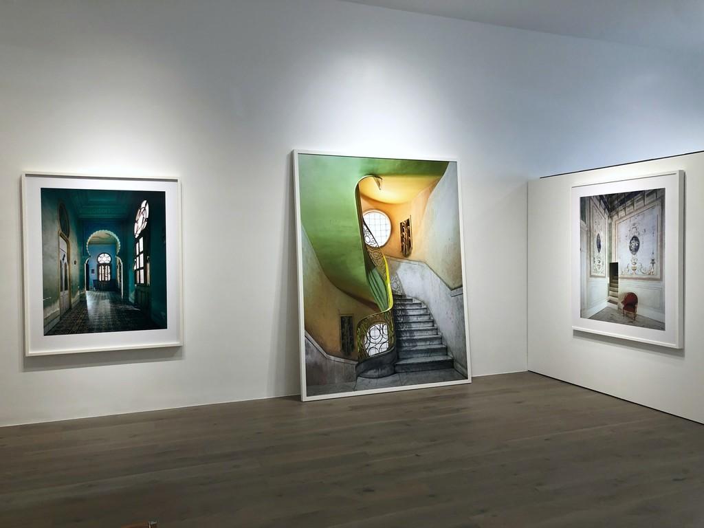 Michael Eastman: Blue Moorish Arch, Havana; Deco Stairwell #2, Havana; Red Chair, Syracusa