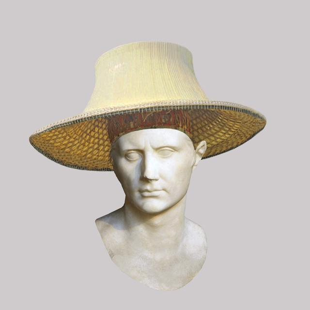 , 'Roman Emperor Augustus/Bamboo Thai Hat,' 2018, JAUS