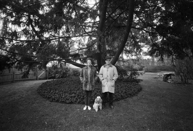 , 'Mom, Chammie, and Dad, Backyard, Newton, MA,' 1970, Scott Nichols Gallery