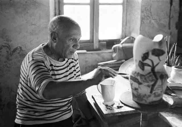 Yves Manciet, 'Picasso painting a gothic pitcher, Madoura, Vallauris', 1953, Cahiers d'Art